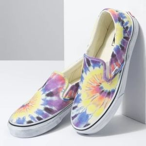 Vans Classic Slip-On Tie Dye Mens Shoes Sneakers